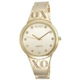 XOXO Women's XO5217 Gold Dial Gold-tone Half Cuff and Half Bracelet Watch (Watch)By XOXO