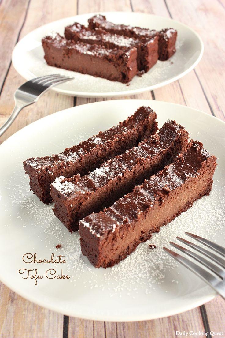 Čokoládový tofu dort