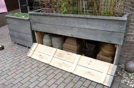 Afbeeldingsresultaat voor plantenbak steigerhout