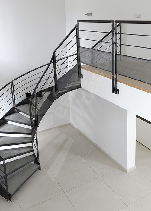 Photo dt91 esca 39 droit balanc design adapt aux grand for Fabrication escalier beton interieur