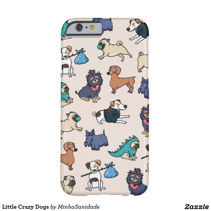 Little Crazy Dogs Barely There iPhone 6 Case