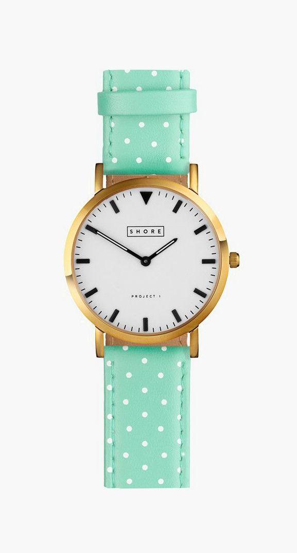 Portland Watch With Pistachio Polka Strap