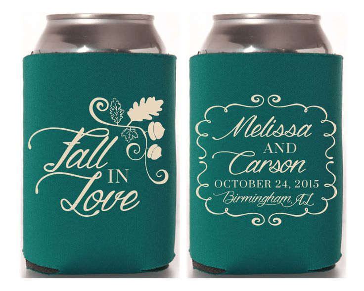 personalized can cooler wedding favors wedding can cooler custom can cooler can coolers. Black Bedroom Furniture Sets. Home Design Ideas