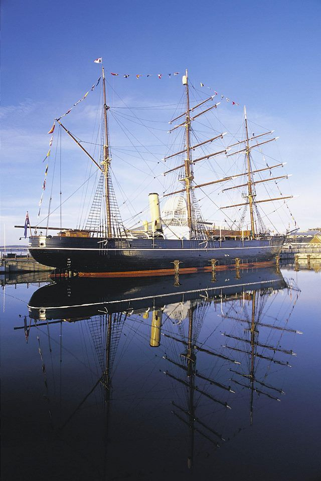 RRS Discovery, the ship used by Captain Scott to explore the Antarctic.