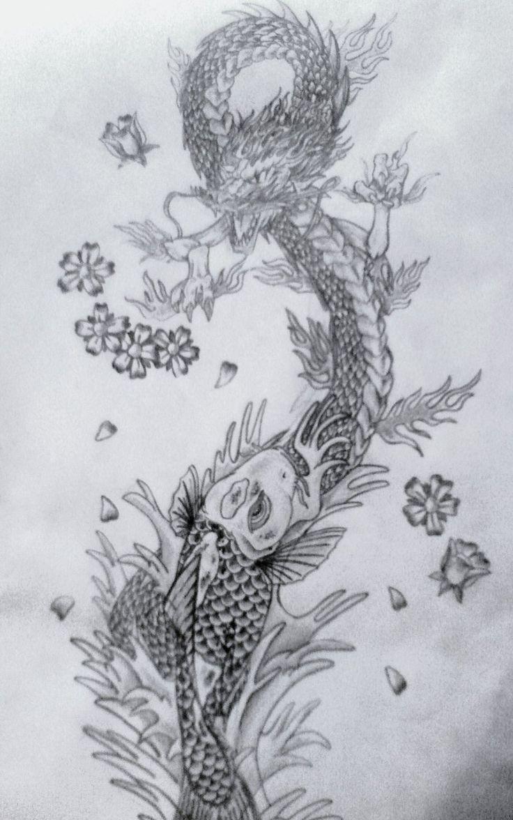 best 25 koi dragon tattoo ideas on pinterest dragon koi fish dragon tattoo koi fish and koi. Black Bedroom Furniture Sets. Home Design Ideas