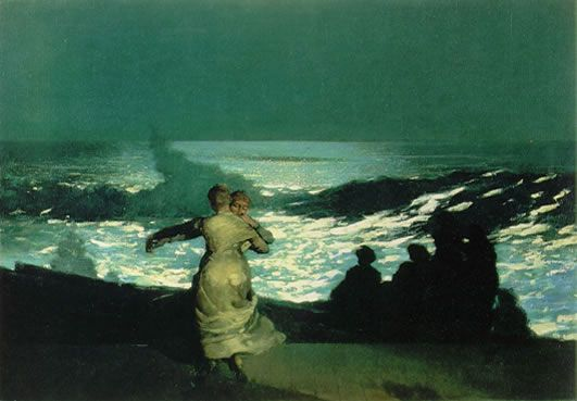 'Summer night'  WINSLOW HOMER  1890  oil on canvas, 76.7- 102 cm. - Paris, Musée d' Orsay