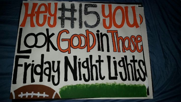 Football poster (senior ideas)                                                                                                                                                                                 More