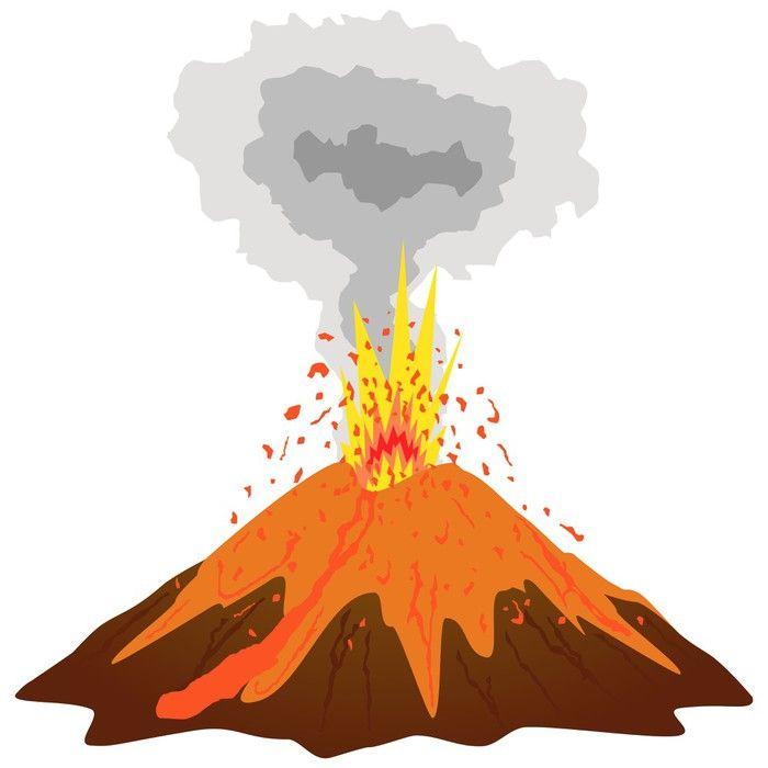 Volcano Eruption Vinyl Wall Mural Natural Disasters Mural Dinosaur Mural Kids Room Murals