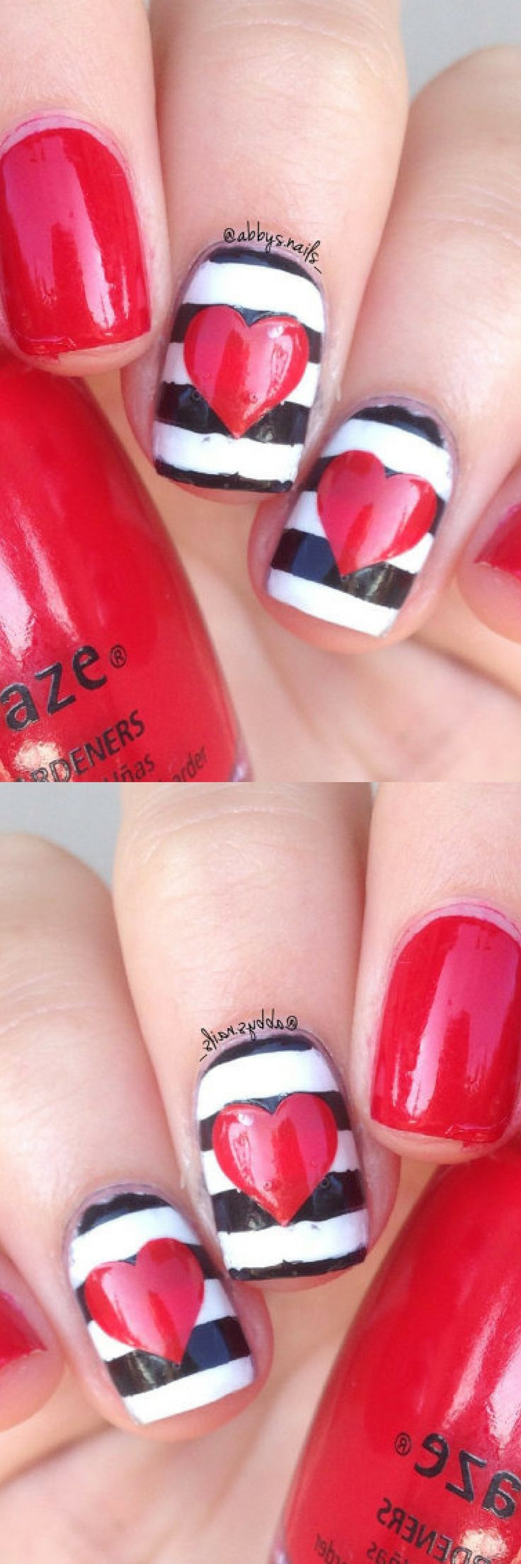 These are super cute!!!!! Heart Nail Art Stencil/Decal Vinyl    #valentinesnails #ad #nailart #naildesigns