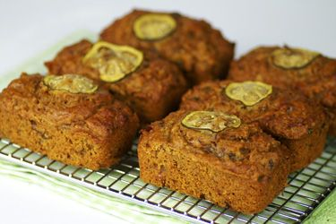 Date and feijoa mini loaves