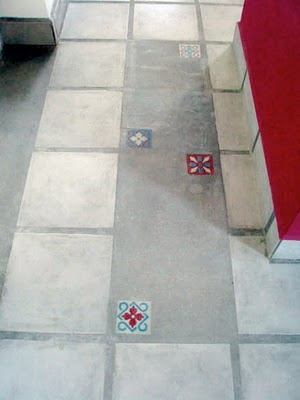cemento alisado con calcáreos