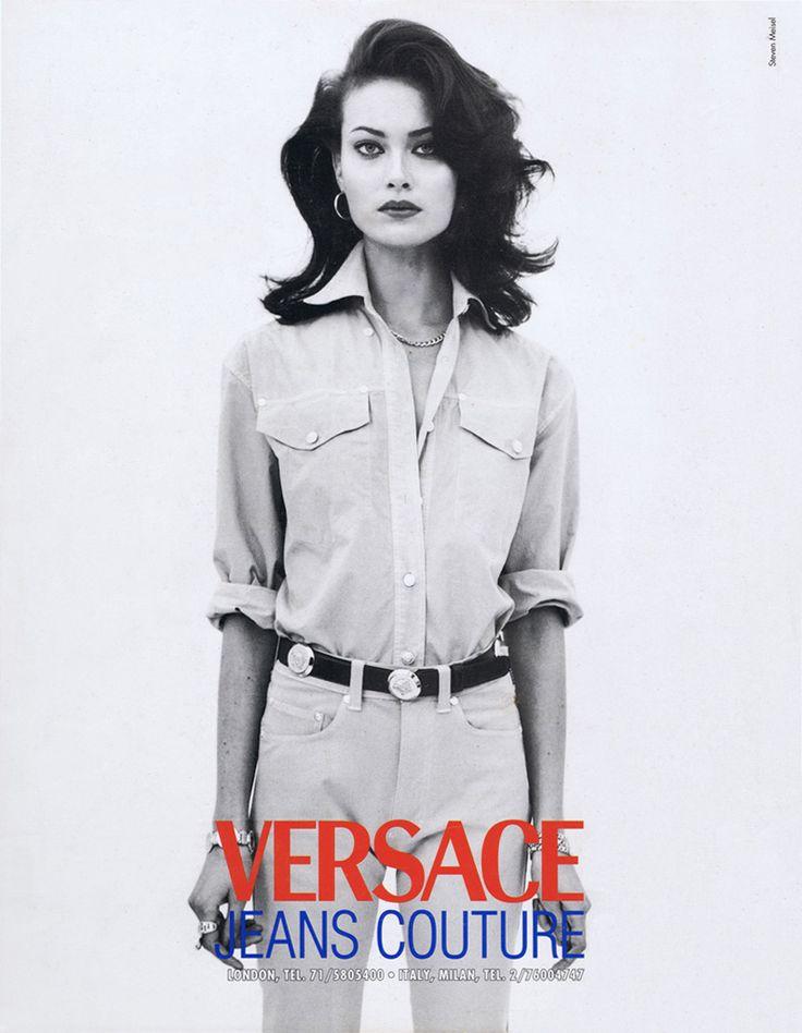 halom Harlow in Gianni Versace by Steven Meisel, 1997