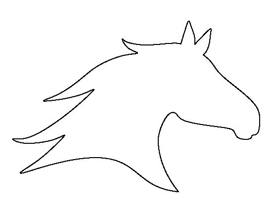 Horse head pattern. Use the printable outline for crafts, creating stencils, scrapbooking, and more. Free PDF template to download and print at http://patternuniverse.com/download/horse-head-pattern/