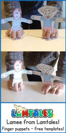 Free finger puppet templates. Make your own finger puppets for role plays and…