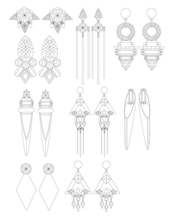 570 best Jewellery Technical Drawings images on Pinterest
