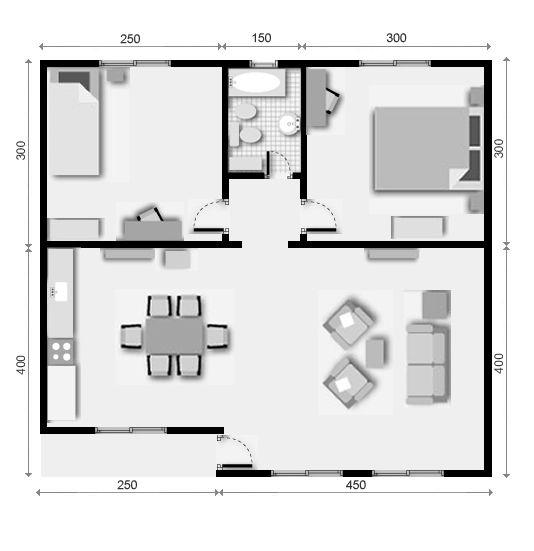 chalets prefabricados de 2 dormitorios