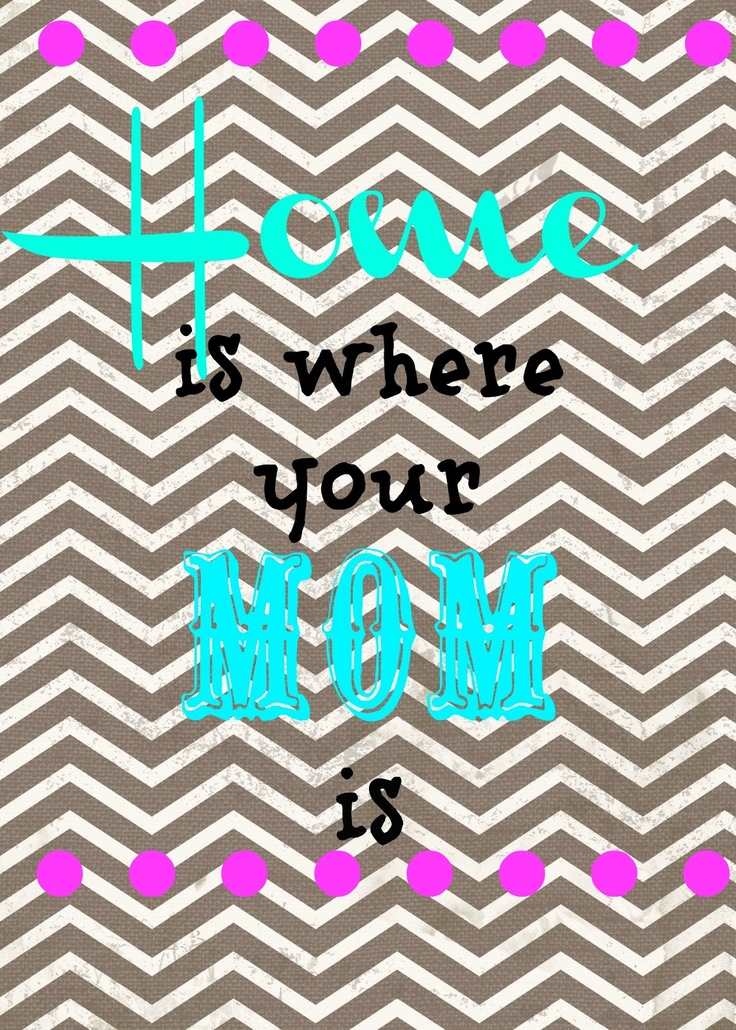 """Free Printable """"Home is where your Mom is"""""""