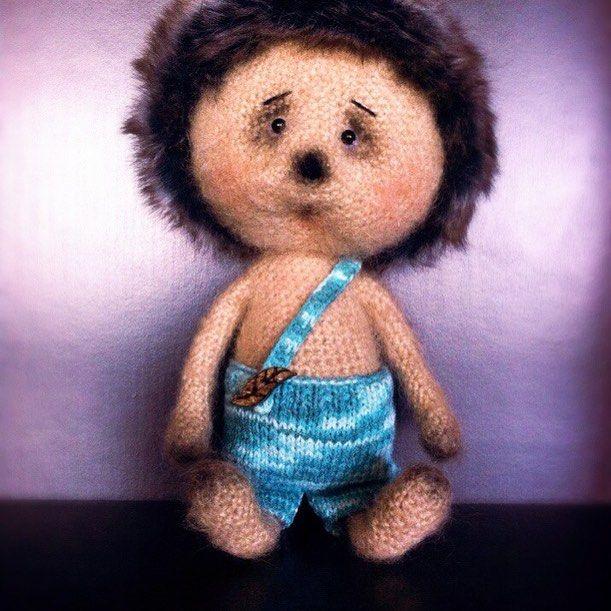 7 отметок «Нравится», 1 комментариев — Димитириева Анжелика (@lika_dimitrieva) в Instagram: «Грустный, совсем не колючий ёжик. 🍃🍄#handmade #вязанаяигрушка #ёжик #игрушкакрючком #вязаниекрючком…»