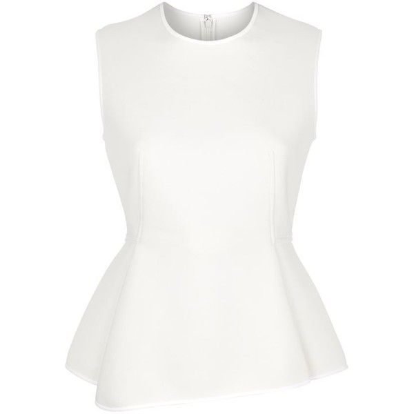 Alexander Wang Neoprene Peplum Top ($715) ❤ liked on Polyvore featuring tops, shirts, alexander wang, alexander wang top, shirts & tops, peplum tops and peplum shirt