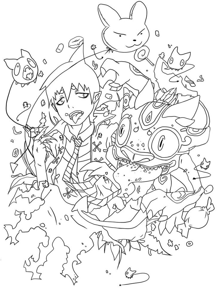 38 best coloriage blue exorcist images on pinterest ao no Attack On Titan Coloring Pages Yukio Blue Exorcist Coloring Pages