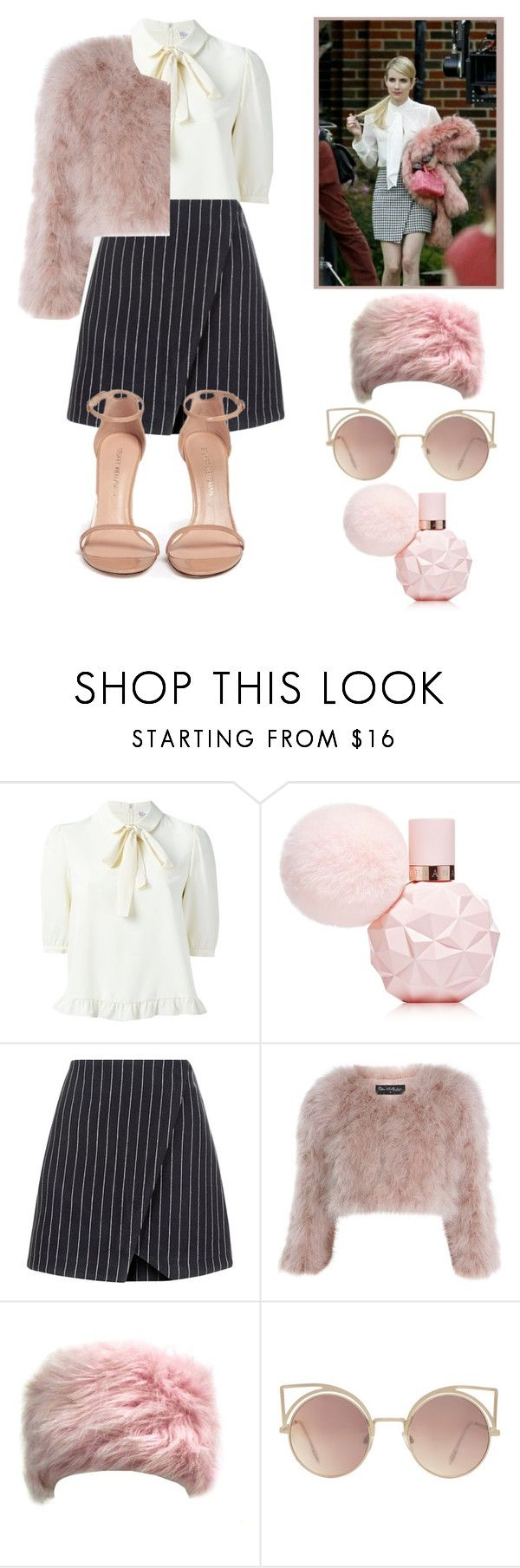 """""""Chanel Oberlin~Scream Queens"""" by elisa-toni ❤ liked on Polyvore featuring New Look, Miss Selfridge, MANGO and Stuart Weitzman"""