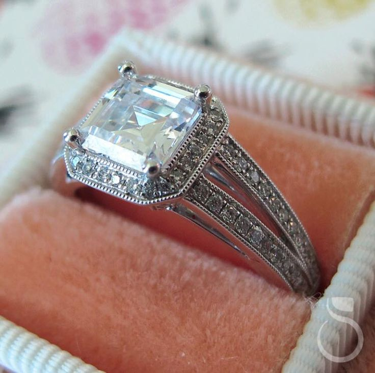 Vintage diamond engagement ring from Sylvie Collection!