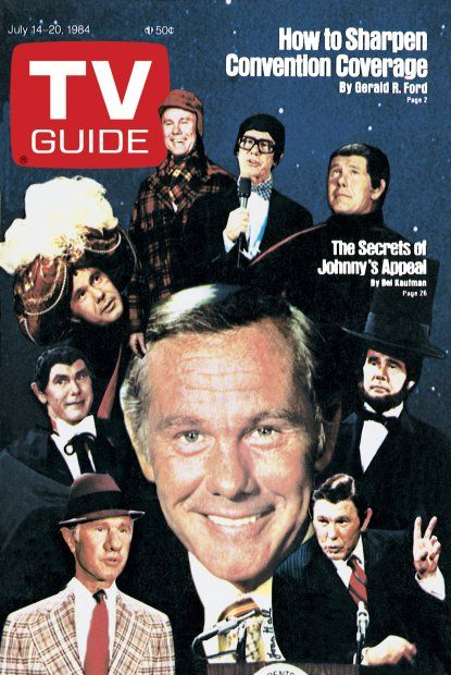 TV Guide July 14, 1984 - Johnny Carson of The Tonight Show