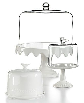 Martha Stewart Collection Serveware, Domed Ceramic Cake Stands Collection - Serveware - Dining & Entertaining - Macy's