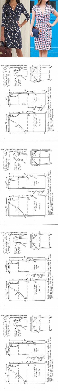 Vestido envelope para malha | DIY - molde, corte e costura - Marlene Mukai