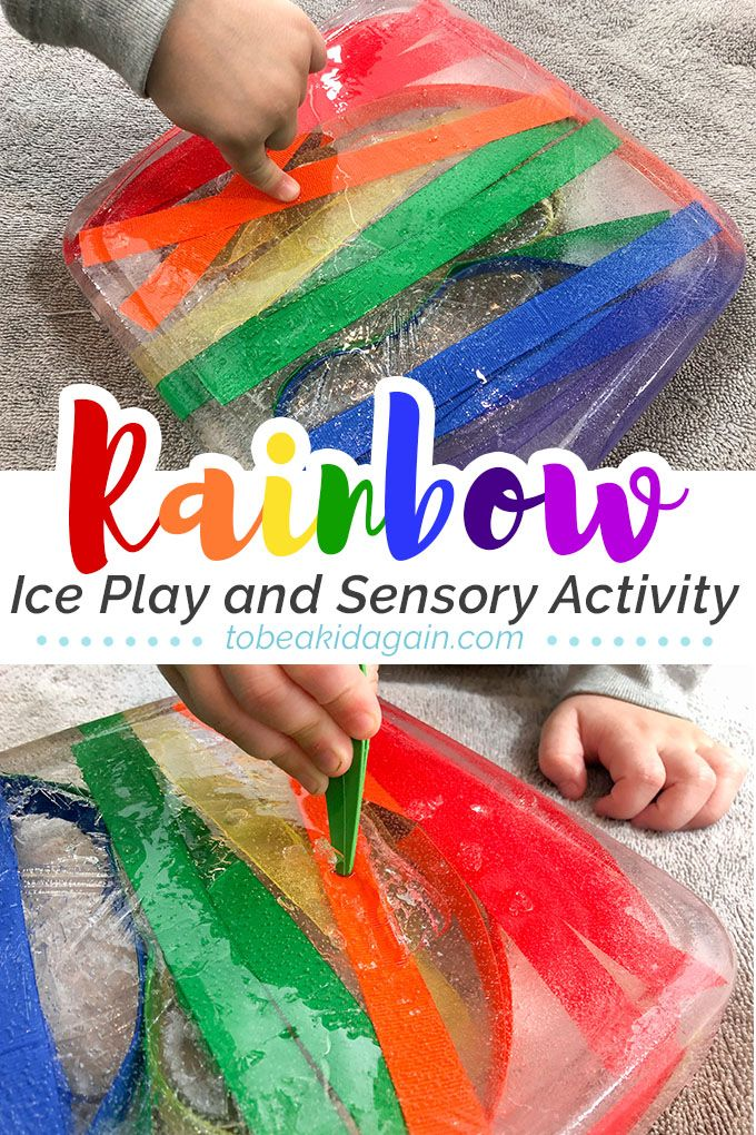 It's rainbow week around here and we are so excited to share this fun Rainbow Sensory Ice Excavationactivity with you! This fun ice play activity is a great fine motor activity that also teaches us about two of the five senses – touch and sight! Kids will learn about the feeling of cold and different...