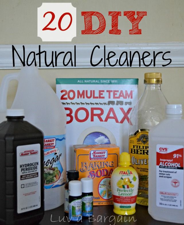 DIY Natural Cleaners - not only less toxic but so much cheaper.  LuvaBargain.com