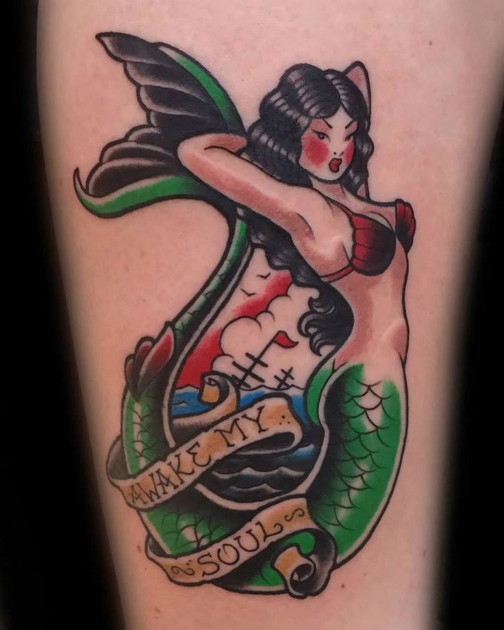 Mermaid tattoos Traditional mermaid tattoos and Neo traditional on ...
