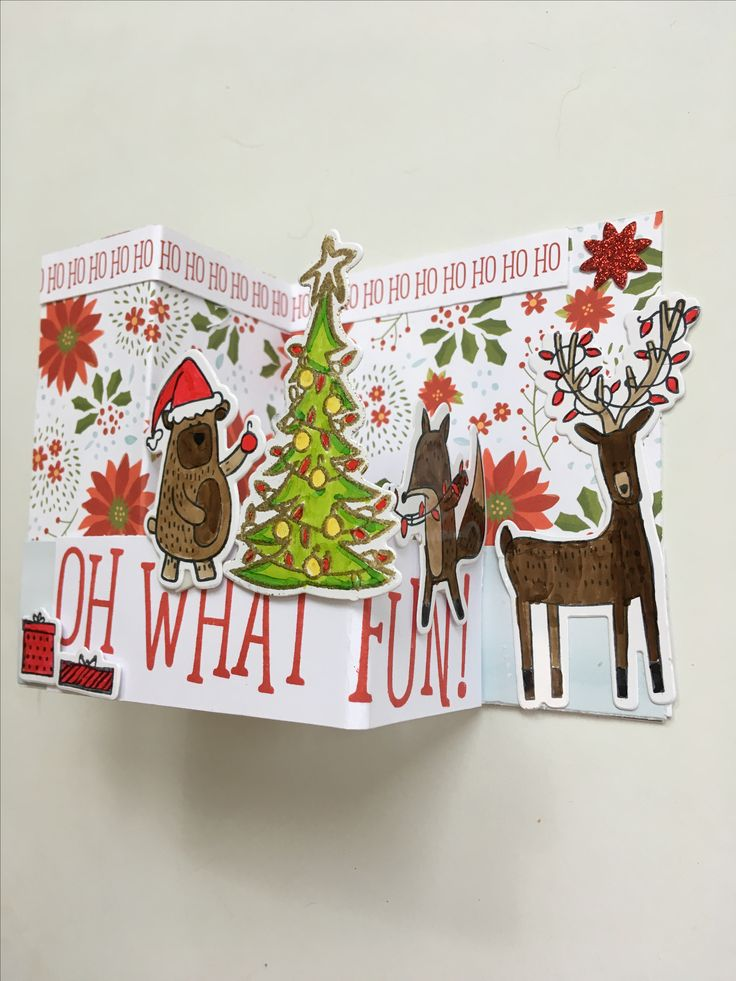 beary christmas z fold card