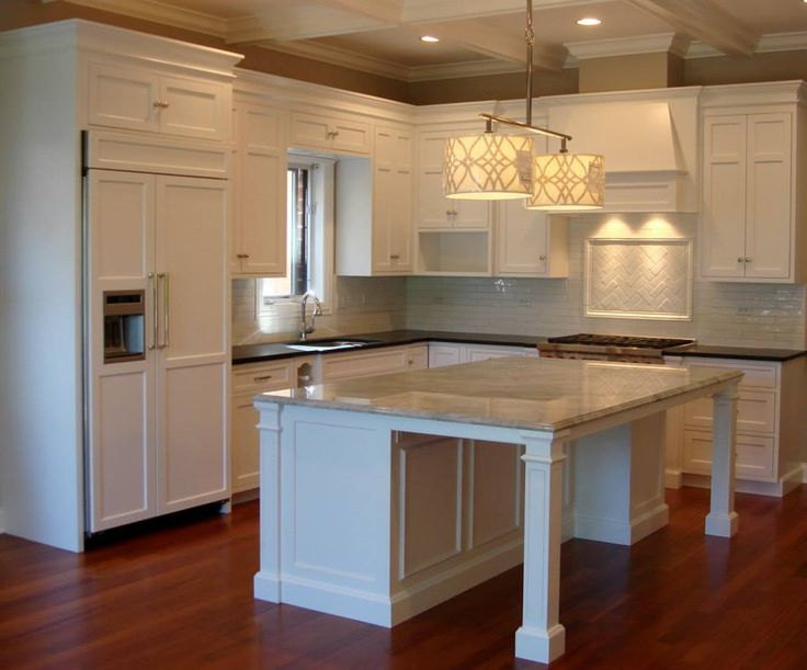 Maple Cabinets Painted White With A Granite Island Build