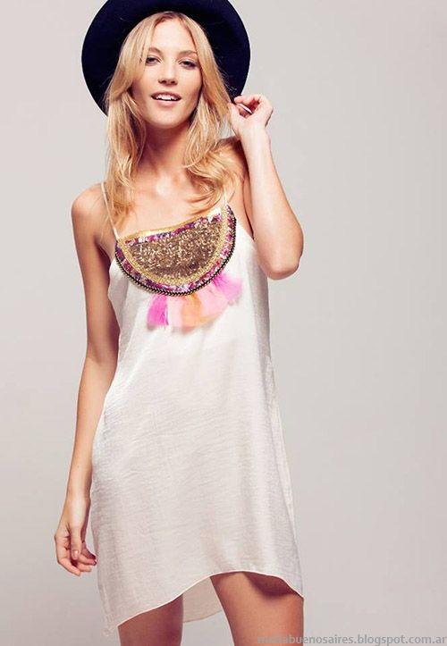 Silvina Ledesma primavera verano 2015 mda vestidos de fiesta cortos.