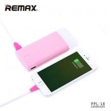 Remax Flashlight 10000mAh Dual USB Ports Portable Universal External Battery Power Bank - Yellow