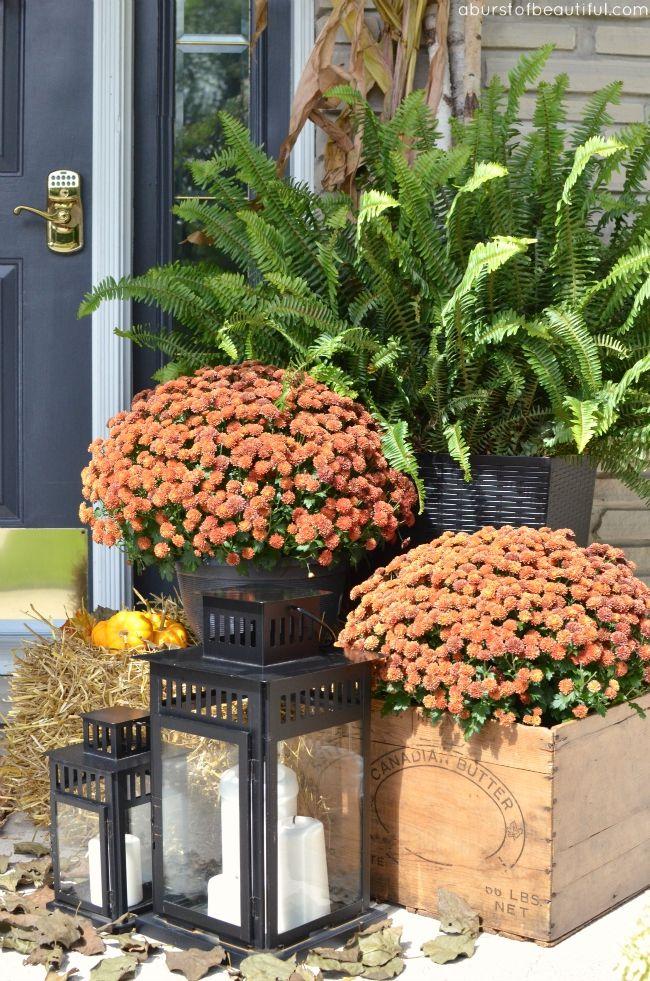 A Burst of Beautiful: Rustic Fall Porch