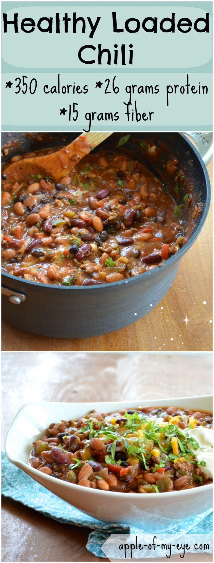 Healthy Loaded Chili Recipe!