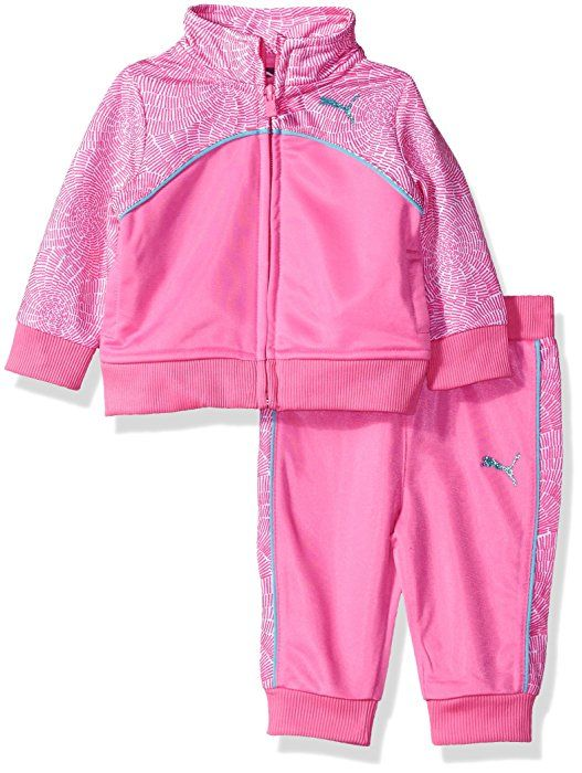 306d867df845d Amazon.com: PUMA Baby Girls Swirl Tracksuit Set, Sugar Plum, 18M ...