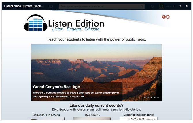 Free Technology for Teachers: Listen Edition Offers an Edmodo App for Teaching With Current Events
