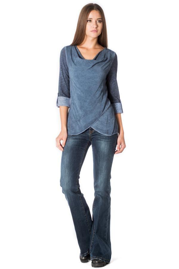 Μπλούζα με ντραπέ λαιμόκοψη 3