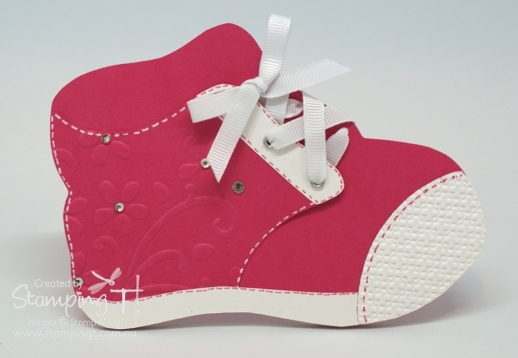 Stamping T! - Baby Shoe card