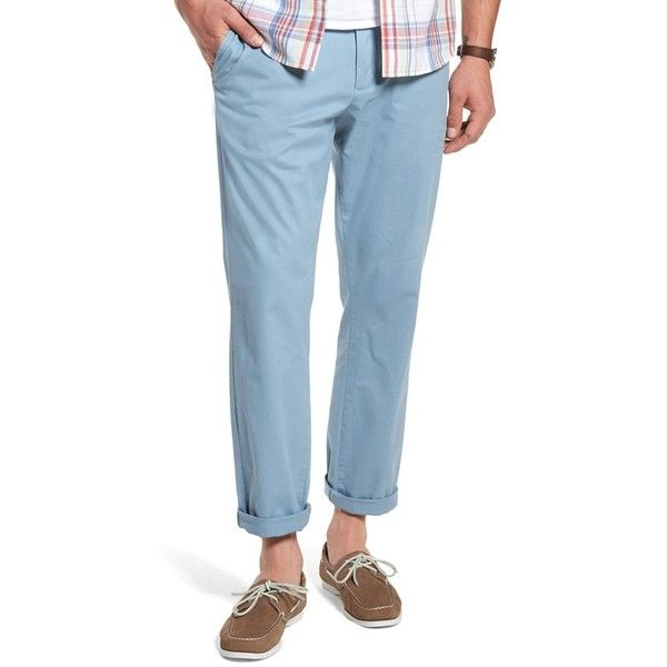 Men's 1901 Fremont Relaxed Slim Fit Chinos (3.980 RUB) ❤ liked on Polyvore featuring men's fashion, men's clothing, men's pants, men's casual pants, blue chambray, mens stretch pants, nike men's stretch woven pants, mens slim fit chino pants, mens woven pants and mens chino pants