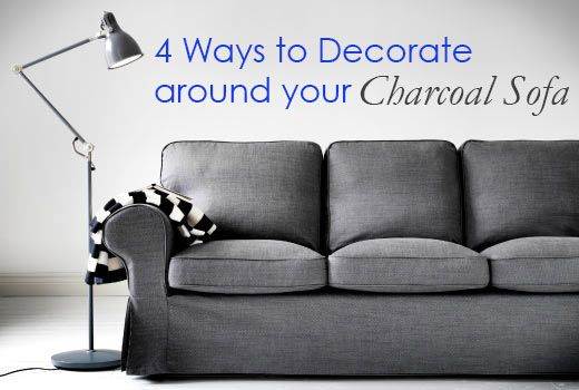 4 Ways to Decorate Around Your Charcoal Sofa - Maria Killam - The True Colour Expert