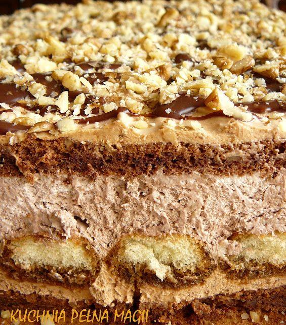 KUCHNIA PEŁNA MAGII ...: Ciasto czekoladowo orzechowe czyli domowe Ferrero Roche