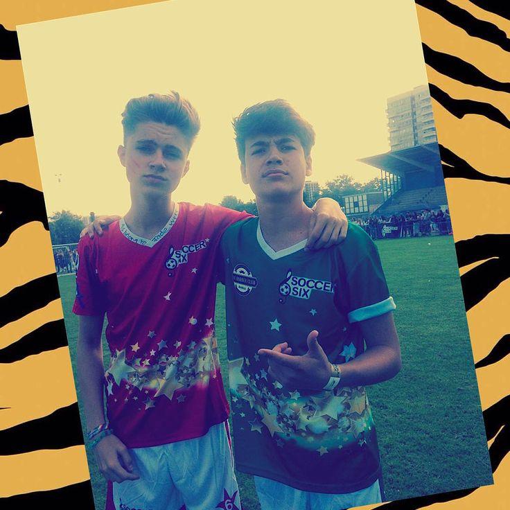 Jamie and Harvey at soccer six
