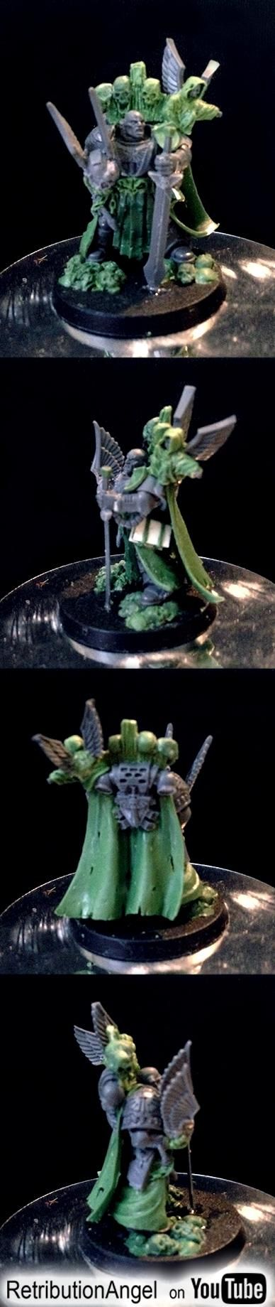 #Retributionangel #40k #40K #conversion #greenstuff #green #stuff #warhammer #dark #angels #darkangel #spacemarine #space #marine #codex #da #charcters #azrael #chapter #master #retri