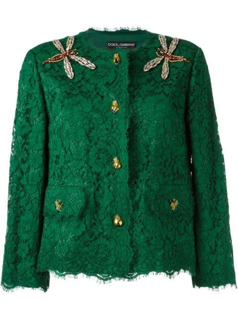 Купить Dolce & Gabbana декорированный кружевной пиджак в Donne Concept store from the world's best independent boutiques at farfetch.com. 400 бутиков, 1 адрес. .