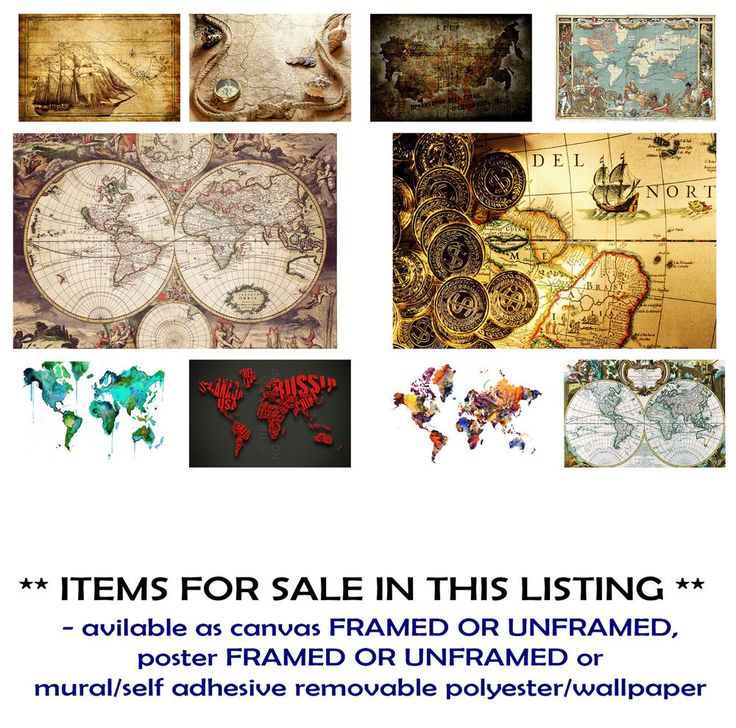 DRAWN MAP, IN SEARCH, WATERCOLOR,BRITISH, WORLD ART CANVAS PRINTS,POSTERS,MURALS