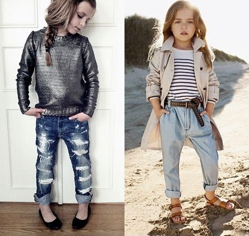 Girlfriend Jeans for Girls. The Girlfriend Jean at Abercrombie Kids is super comfy and oh-so-cute. And we have all her favorite washes complete with distressed details (meaning we saved her the trouble of ripping them up herself).